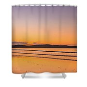 Dawn Seascape With Clouds Shower Curtain