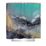 Degraded Landscape In Poland. Destroyed Land. View From Above.  Shower Curtain