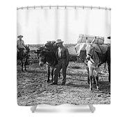 3 Desert Prospectors C. 1900 Shower Curtain