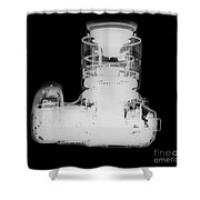 Digital Camera X-ray Shower Curtain