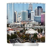 Downtown Charlotte North Carolina From The South End Shower Curtain