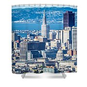 Downtown San Francisco City Street Scenes And Surroundings Shower Curtain