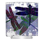 3 Dragonfly Shower Curtain