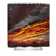 Dramatic Skies Great Smoky Mountains Nc At Sunset In Winter Shower Curtain