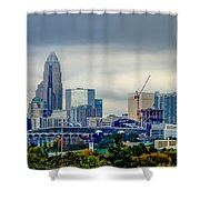 Dramatic Sky And Clouds Over Charlotte North Carolina Shower Curtain