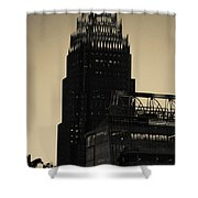 Early Morning Sunrise Over Charlotte North Carolina Skyscrapers Shower Curtain
