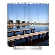 East Lake Toho In Florida Shower Curtain