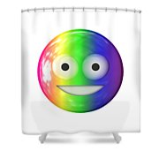Emoticon Plastic Face Shower Curtain
