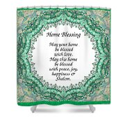 English Home Blessing Shower Curtain
