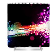 Explosion Of Lights Shower Curtain
