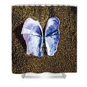 Fallen Butterfly Shower Curtain