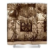 3 Fans And Vines Shower Curtain