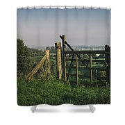 Farm Fields In Belgium Shower Curtain
