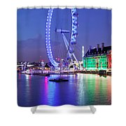 Ferris Wheel At The Waterfront Shower Curtain