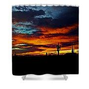 Fire Sky  Shower Curtain