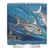 3 Fish Shower Curtain