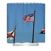 3 Flags Shower Curtain