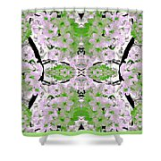 Floral Mural Shower Curtain