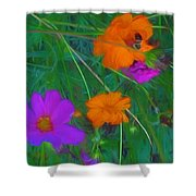 Flower Painting Shower Curtain