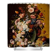 Flowers In A Glass Pitcher Shower Curtain