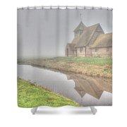 Foggy Fairfield Shower Curtain