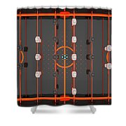Foosball Players Shower Curtain