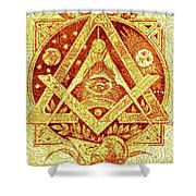 Freemason Symbolism Shower Curtain