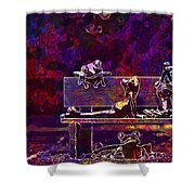 Frogs Yoga Bank Bench Relaxed  Shower Curtain