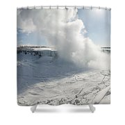 Frozen Niagara Falls Shower Curtain