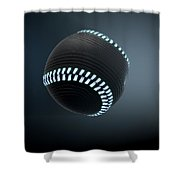 Futuristic Neon Sports Ball Shower Curtain