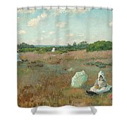 Gathering Autumn Flowers Shower Curtain