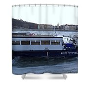 Genre Picture By Frozen Danube Shower Curtain
