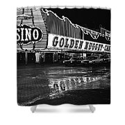 Golden Nugget Casino At Night In The Rain Las Vegas Nevada 1979 Shower Curtain