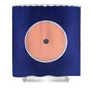 Golf Ball Center Shower Curtain