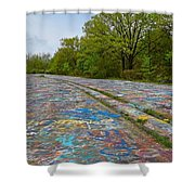 Graffiti Highway, Facing North Shower Curtain