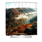 Grandview New River Gorge Shower Curtain