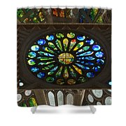 Graphic Art From Photo Library Of Photographic Collection Of Christian Churches Temples Of Place Of  Shower Curtain