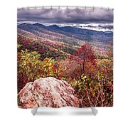 Graveyard Fields Overlook In The Smoky Mountains In North Caroli Shower Curtain