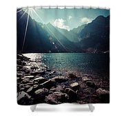 Green Water Mountain Lake Morskie Oko, Tatra Mountains, Poland Shower Curtain