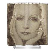 Greta Garbo, Vintage Hollywood Actress Shower Curtain