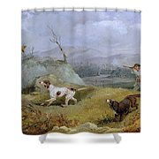 Grouse Shooting Henry Thomas Alken Shower Curtain