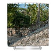 Grupo Coba At The Coba Ruins  Shower Curtain