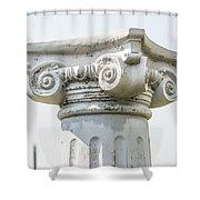 Head Of Column Shower Curtain