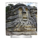Heads Of Devils Shower Curtain