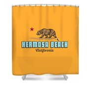 Hermosa Beach. Shower Curtain