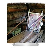Historic Log Trappers Cabin Shower Curtain