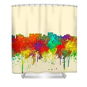 Hobart Australia Skyline  Shower Curtain