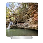 Hocking Hills Waterfall Shower Curtain