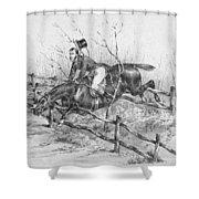 Horserider, C1840 Shower Curtain