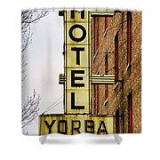 Hotel Yorba Shower Curtain by Gordon Dean II